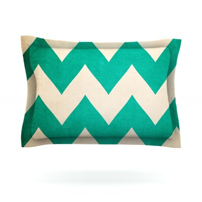 2013 by Catherine McDonald Featherweight Pillow Sham Size: Queen, Fabric: Cotton