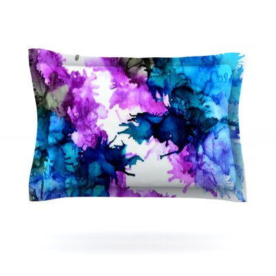 Utopia by Claire Day Featherweight Pillow Sham Size: King, Fabric: Cotton
