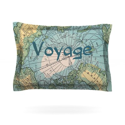 Voyage by Catherine Holcombe Featherweight Pillow Sham Size: King, Fabric: Cotton