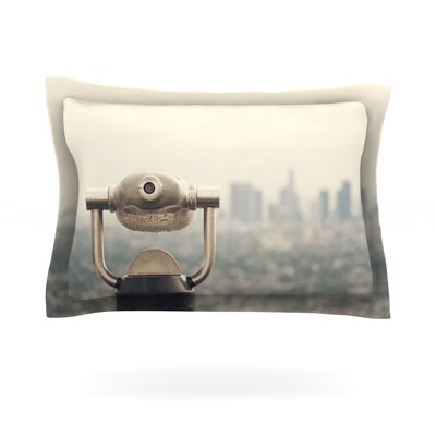 The View LA by Catherine McDonald Featherweight Pillow Sham Size: Queen, Fabric: Cotton