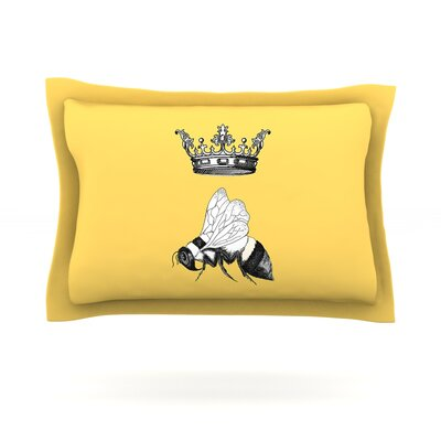 Queen Bee by Catherine Holcombe Featherweight Pillow Sham Size: Queen, Fabric: Cotton