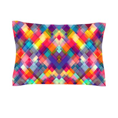 Squares Everywhere by Danny Ivan Featherweight Pillow Sham Size: King, Fabric: Cotton