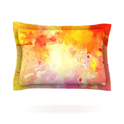 Splash by CarolLynn Tice Featherweight Pillow Sham Size: Queen, Fabric: Cotton