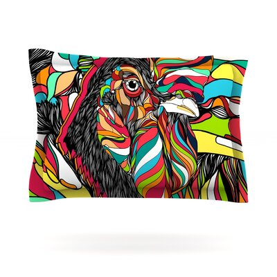 Tropical Cock by Danny Ivan Featherweight Pillow Sham Size: King, Fabric: Cotton