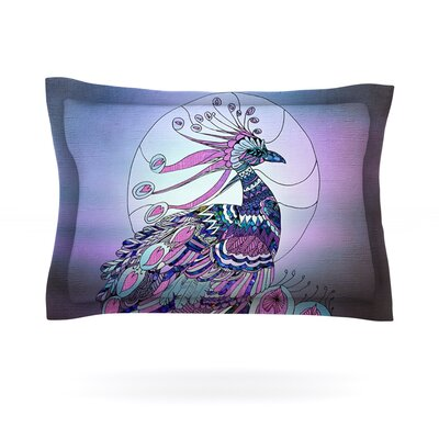 Peacock by Catherine Holcombe Featherweight Pillow Sham Size: Queen, Fabric: Cotton
