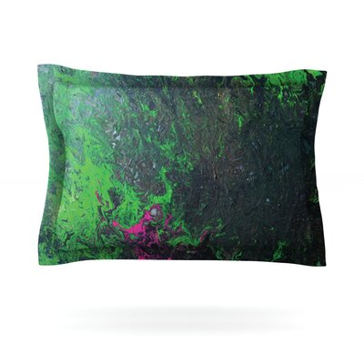 Acid Rain by Claire Day Featherweight Pillow Sham Size: King, Fabric: Cotton