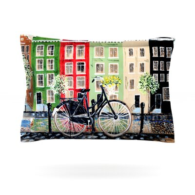 Bicycle by Christen Treat Featherweight Pillow Sham Size: Queen, Fabric: Cotton