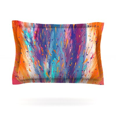 Colorful Fire by Danny Ivan Featherweight Pillow Sham Size: King, Fabric: Cotton