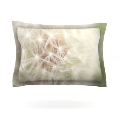 Dandelion by Catherine McDonald Featherweight Pillow Sham Size: King, Fabric: Cotton