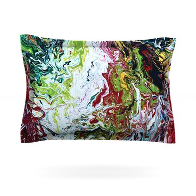 Chaos by Claire Day Featherweight Pillow Sham Size: King, Fabric: Cotton