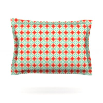 Retro Circles by Catherine McDonald Featherweight Pillow Sham Size: King, Fabric: Cotton