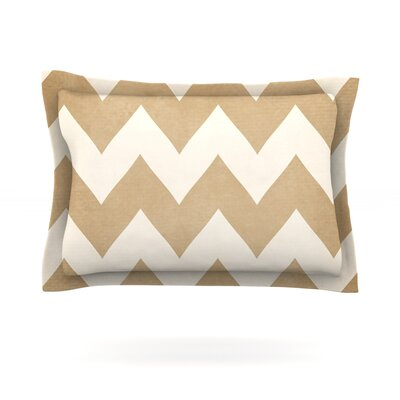 Biscotti and Cream by Catherine McDonald Featherweight Pillow Sham Size: King, Fabric: Cotton