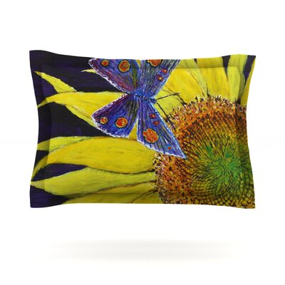 Butterfly by David Joyner Featherweight Pillow Sham Size: Queen, Fabric: Cotton