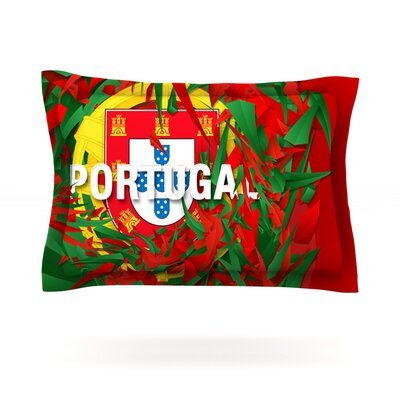 Portugal by Danny Ivan Featherweight Pillow Sham Size: Queen, Fabric: Cotton