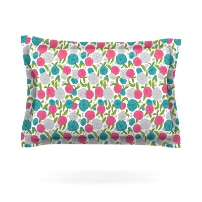 Vintage Brights by Emma Frances Featherweight Pillow Sham Size: King, Fabric: Cotton