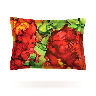 One Love by Claire Day Featherweight Pillow Sham Size: King, Fabric: Cotton