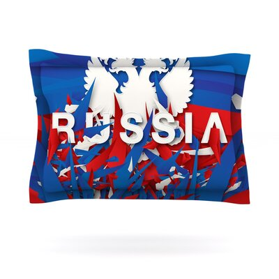 Russia by Danny Ivan Featherweight Pillow Sham Size: Queen, Fabric: Cotton