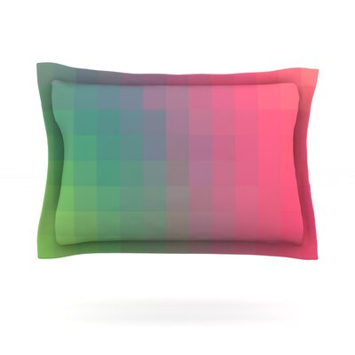 Gradient Print by Danny Ivan Featherweight Pillow Sham Size: Queen, Fabric: Cotton