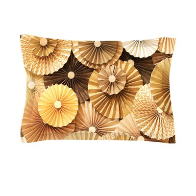 Caramel Latte by Heidi Jennings Featherweight Pillow Sham Size: Queen, Fabric: Cotton