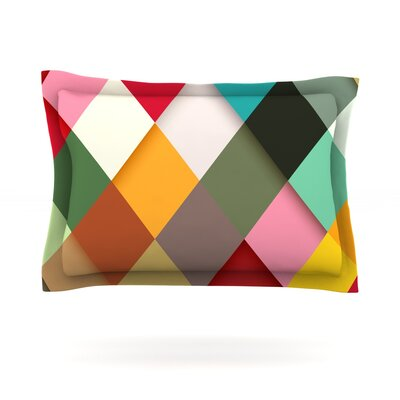 Colorful by Danny Ivan Featherweight Pillow Sham Size: Queen, Fabric: Cotton