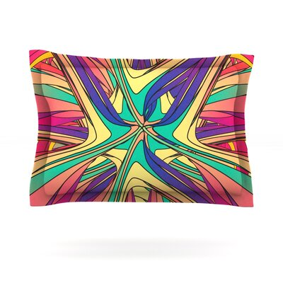Veins by Danny Ivan Featherweight Pillow Sham Size: Queen, Fabric: Cotton