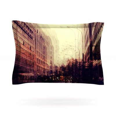 London by Ingrid Beddoes Featherweight Pillow Sham Size: King, Fabric: Cotton