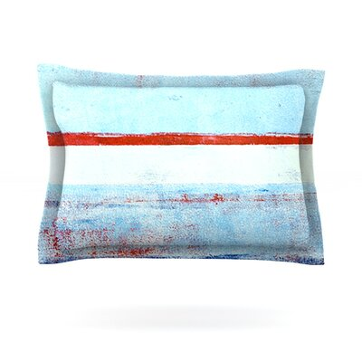 Stripes by CarolLynn Tice Featherweight Pillow Sham Size: King, Fabric: Cotton