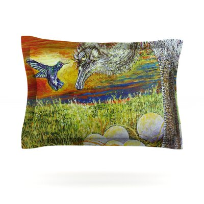 Ostrich by David Joyner Featherweight Pillow Sham Size: Queen, Fabric: Cotton