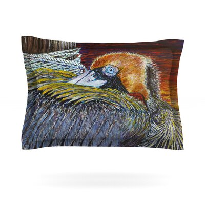 Pelican by David Joyner Featherweight Pillow Sham Size: Queen, Fabric: Cotton