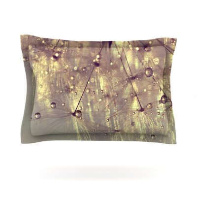 Sparkles of Gold by Ingrid Beddoes Featherweight Pillow Sham Size: Queen, Fabric: Cotton