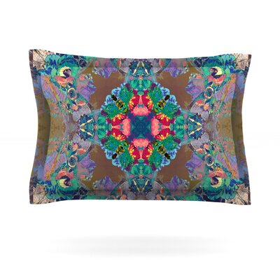 Flowery by Danii Pollehn Featherweight Pillow Sham Size: Queen, Fabric: Cotton