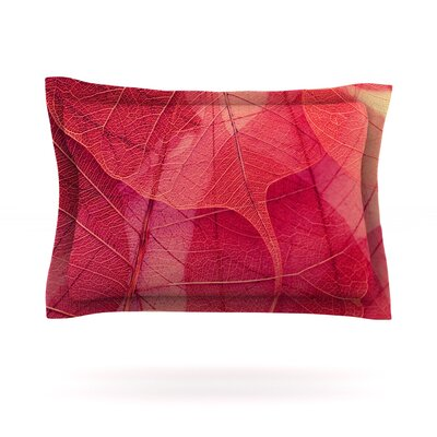 Delicate Leaves by Ingrid Beddoes Featherweight Pillow Sham Size: Queen, Fabric: Cotton