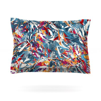 Excited Colours by Danny Ivan Featherweight Pillow Sham Size: Queen, Fabric: Cotton