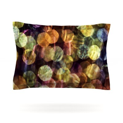 Warm Sparkle by Ingrid Beddoes Featherweight Pillow Sham Size: Queen, Fabric: Cotton