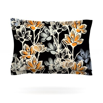 Crocus by Gill Eggleston Featherweight Pillow Sham Size: King, Fabric: Cotton