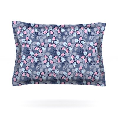 Flower Clusters by Emma Frances Featherweight Pillow Sham Size: King, Fabric: Cotton