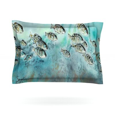 Perch Surfin by Josh Serafin Featherweight Pillow Sham Size: Queen, Fabric: Cotton