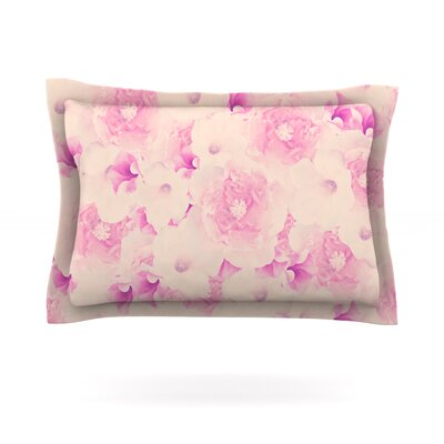 Blush Bouquet by Deepti Munshaw Featherweight Pillow Sham Size: King, Fabric: Cotton