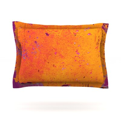 Orange Purple by Iris Lehnhardt Featherweight Pillow Sham Size: King, Fabric: Cotton