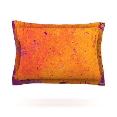 Orange Purple by Iris Lehnhardt Featherweight Pillow Sham Size: King, Fabric: Cotton