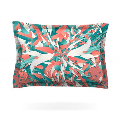 Like Explosion by Danny Ivan Featherweight Pillow Sham Size: King, Fabric: Cotton