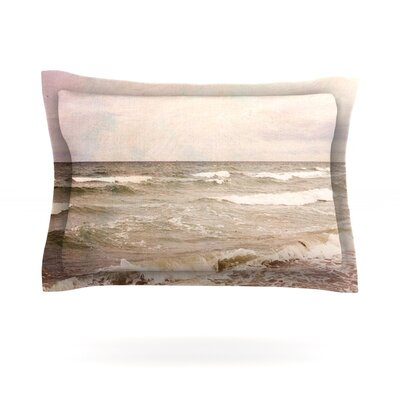 Romantic Sea by Iris Lehnhardt Featherweight Pillow Sham Size: King, Fabric: Cotton