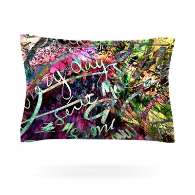 Crazy Day by Gabriela Fuente Featherweight Pillow Sham Size: Queen, Fabric: Cotton