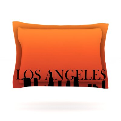 Los Angeles Featherweight Pillow Sham Size: King, Fabric: Cotton
