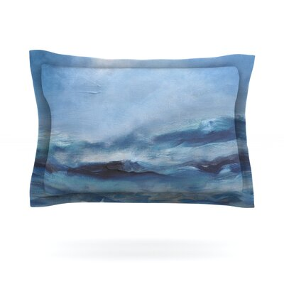 Rough Sea by Iris Lehnhardt Featherweight Pillow Sham Size: Queen, Fabric: Cotton