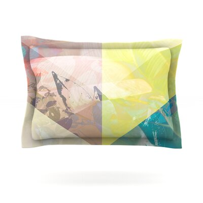 Patch Garden by Gabriela Fuente Featherweight Pillow Sham Size: King, Fabric: Cotton