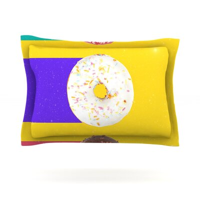 Donuts by Danny Ivan Featherweight Pillow Sham Size: Queen, Fabric: Cotton