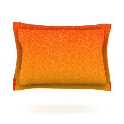 Bubbling by Frederic Levy-Hadida Featherweight Pillow Sham Size: Queen, Color: Red, Fabric: Cotton