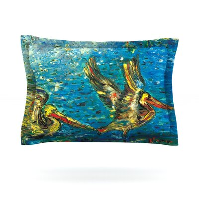 Seabirds by Josh Serafin Featherweight Pillow Sham Size: Queen, Fabric: Cotton