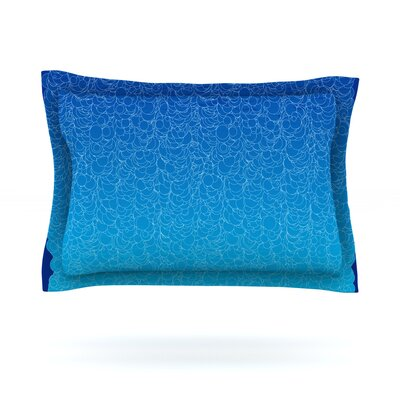 Bubbling by Frederic Levy-Hadida Featherweight Pillow Sham Size: King, Color: Blue, Fabric: Cotton